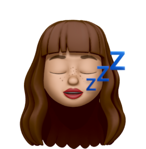 mais je suis contrainte de dormir un peu